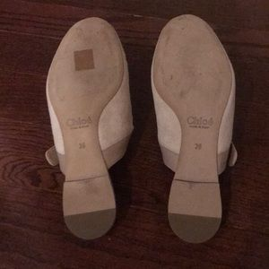 Chloe Shoes - Chloe Pink Lauren Suede Slippers - Sz 36 with box